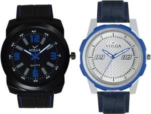 Volga Branded Leather Quality Designer Dial Diwali Special Combo609 Designer Sport Looks WaterProof Mens Watch Analog Watch  - For Men
