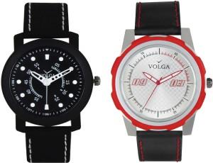 Volga Branded Leather Quality Designer Dial Diwali Special Combo287 Designer Sport Looks WaterProof Mens Watch Analog Watch  - For Men