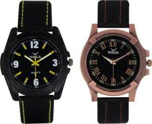 Volga Branded Leather Quality Designer Dial Diwali Special Combo321 Designer Sport Looks WaterProof Mens Watch Analog Watch  - For Men