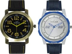Volga Branded Leather Quality Designer Dial Diwali Special Combo619 Designer Sport Looks WaterProof Mens Watch Analog Watch  - For Men