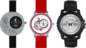 Volga Designer FVOLGA Beautiful New Branded Type Watches Men and Women Combo102 VOLGA Band Analog Watch  - For Couple