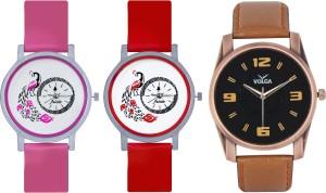 Frida Designer VOLGA Beautiful New Branded Type Watches Men and Women Combo608 VOLGA Band Analog Watch  - For Couple