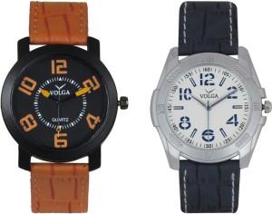 Volga Branded Leather Quality Designer Dial Diwali Special Combo394 Designer Sport Looks WaterProof Mens Watch Analog Watch  - For Men
