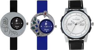 Volga Designer FVOLGA Beautiful New Branded Type Watches Men and Women Combo80 VOLGA Band Analog Watch  - For Couple