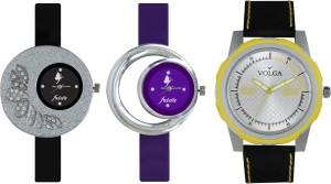 Volga Designer FVOLGA Beautiful New Branded Type Watches Men and Women Combo99 VOLGA Band Analog Watch  - For Couple