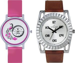 Volga Designer FVOLGA Beautiful New Branded Type Watches Men and Women Combo46 VOLGA Band Analog Watch  - For Couple