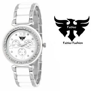 Fadiso Fashion FF-703-WHT-SLV Analog Watch  - For Women