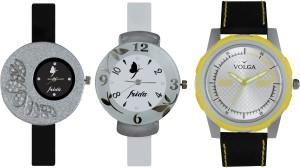 Volga Designer FVOLGA Beautiful New Branded Type Watches Men and Women Combo115 VOLGA Band Analog Watch  - For Couple