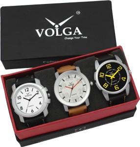 Volga VLW05-12-25-27 Mens Leather Belt Combo With Designer Stylish Branded Gorgeous box Analog Watch  - For Men