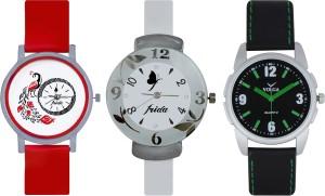 Frida Designer VOLGA Beautiful New Branded Type Watches Men and Women Combo760 VOLGA Band Analog Watch  - For Couple