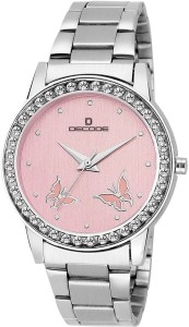 Decode Ladies Crystal Studded 21-030 pink Analog Watch  - For Women