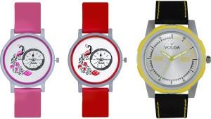 Volga Designer FVOLGA Beautiful New Branded Type Watches Men and Women Combo163 VOLGA Band Analog Watch  - For Couple