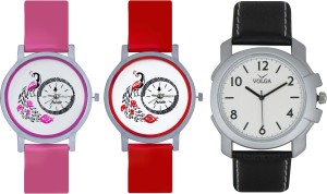 Frida Designer VOLGA Beautiful New Branded Type Watches Men and Women Combo598 VOLGA Band Analog Watch  - For Couple