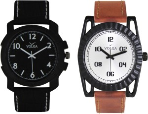 Volga Branded Leather Quality Designer Dial Diwali Special Combo254 Designer Sport Looks WaterProof Mens Watch Analog Watch  - For Men