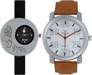 Frida Designer VOLGA Beautiful New Branded Type Watches Men and Women Combo21 VOLGA Band Analog Watch  - For Couple