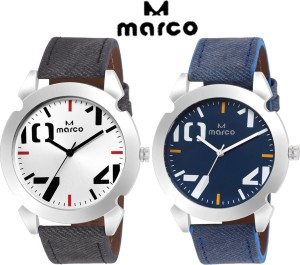 Marco elite 1001 slv blue combo Analog Watch  - For Men