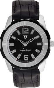 Swiss Grand Sg-8000_black Grand Analog Watch  - For Men