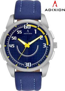 Adixion 9520SL04 New Blue Strap watch With Genuine Leather Watch  - For Men & Women