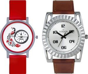 Volga Designer FVOLGA Beautiful New Branded Type Watches Men and Women Combo60 VOLGA Band Analog Watch  - For Couple