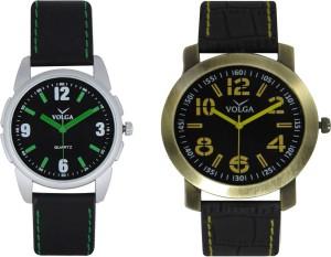 Volga Branded Leather Quality Designer Dial Diwali Special Combo520 Designer Sport Looks WaterProof Mens Watch Analog Watch  - For Men