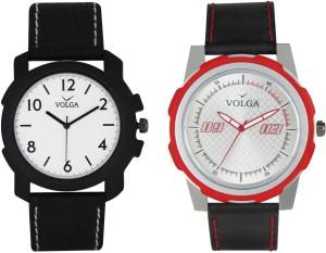 Volga Branded Leather Quality Designer Dial Diwali Special Combo230 Designer Sport Looks WaterProof Mens Watch Analog Watch  - For Men