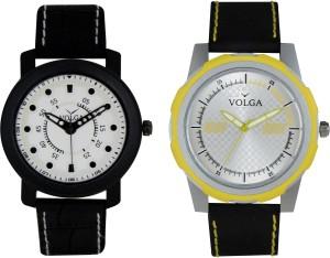 Volga Branded Leather Quality Designer Dial Diwali Special Combo315 Designer Sport Looks WaterProof Mens Watch Analog Watch  - For Men
