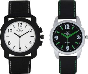 Volga Branded Leather Quality Designer Dial Diwali Special Combo214 Designer Sport Looks WaterProof Mens Watch Analog Watch  - For Men