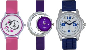Frida Designer VOLGA Beautiful New Branded Type Watches Men and Women Combo557 VOLGA Band Analog Watch  - For Couple