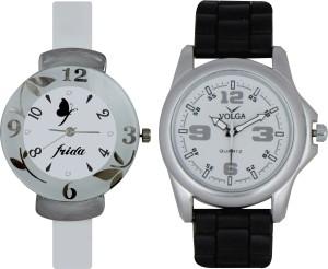 Frida Designer VOLGA Beautiful New Branded Type Watches Men and Women Combo186 VOLGA Band Analog Watch  - For Couple