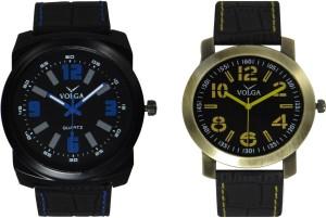Volga Branded Leather Quality Designer Dial Diwali Special Combo601 Designer Sport Looks WaterProof Mens Watch Analog Watch  - For Men