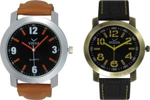 Volga Branded Leather Quality Designer Dial Diwali Special Combo551 Designer Sport Looks WaterProof Mens Watch Analog Watch  - For Men