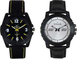 Volga Branded Leather Quality Designer Dial Diwali Special Combo336 Designer Sport Looks WaterProof Mens Watch Analog Watch  - For Men