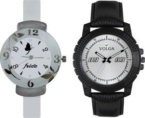 Volga Designer FVOLGA Beautiful New Branded Type Watches Men and Women Combo70 VOLGA Band Analog Watch  - For Couple