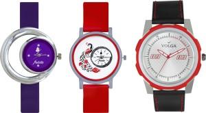 Volga Designer FVOLGA Beautiful New Branded Type Watches Men and Women Combo178 VOLGA Band Analog Watch  - For Couple