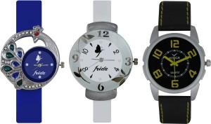 Frida Designer VOLGA Beautiful New Branded Type Watches Men and Women Combo537 VOLGA Band Analog Watch  - For Couple
