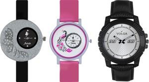 Volga Designer FVOLGA Beautiful New Branded Type Watches Men and Women Combo86 VOLGA Band Analog Watch  - For Couple