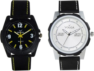 Volga Branded Leather Quality Designer Dial Diwali Special Combo338 Designer Sport Looks WaterProof Mens Watch Analog Watch  - For Men
