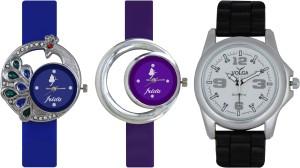 Frida Designer VOLGA Beautiful New Branded Type Watches Men and Women Combo445 VOLGA Band Analog Watch  - For Couple