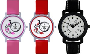 Frida Designer VOLGA Beautiful New Branded Type Watches Men and Women Combo602 VOLGA Band Analog Watch  - For Couple
