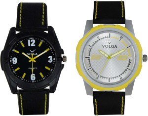 Volga Branded Leather Quality Designer Dial Diwali Special Combo341 Designer Sport Looks WaterProof Mens Watch Analog Watch  - For Men