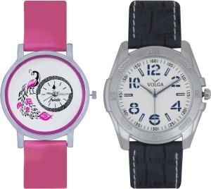 Frida Designer VOLGA Beautiful New Branded Type Watches Men and Women Combo92 VOLGA Band Analog Watch  - For Couple
