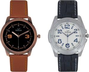 Volga Branded Leather Quality Designer Dial Diwali Special Combo416 Designer Sport Looks WaterProof Mens Watch Analog Watch  - For Men