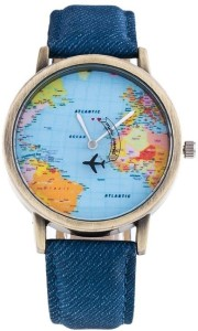 Xinew World Map Dial Analog Watch  - For Boys