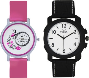 Frida Designer VOLGA Beautiful New Branded Type Watches Men and Women Combo81 VOLGA Band Analog Watch  - For Couple