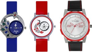 Volga Designer FVOLGA Beautiful New Branded Type Watches Men and Women Combo138 VOLGA Band Analog Watch  - For Couple