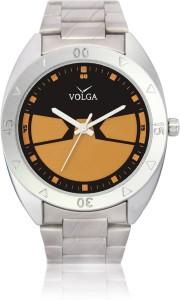 Volga VLW080003 Classic Steel belt Trendy Designer Stylish Branded Silver Bracelet Analog Watch  - For Men