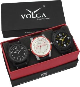 Volga VLW05-14-17-42 Mens Leather Belt Combo With Designer Stylish Branded Trendy box Analog Watch  - For Men