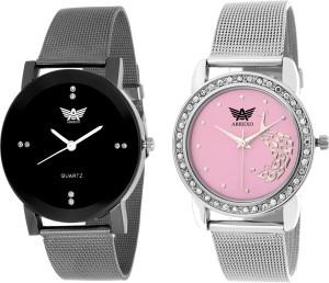 Abrexo Abx-2552-BK-PNK Trendy looks Analog Watch  - For Men & Women