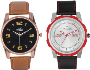 Volga Branded Leather Quality Designer Dial Diwali Special Combo455 Designer Sport Looks WaterProof Mens Watch Analog Watch  - For Men