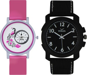 Frida Designer VOLGA Beautiful New Branded Type Watches Men and Women Combo82 VOLGA Band Analog Watch  - For Couple